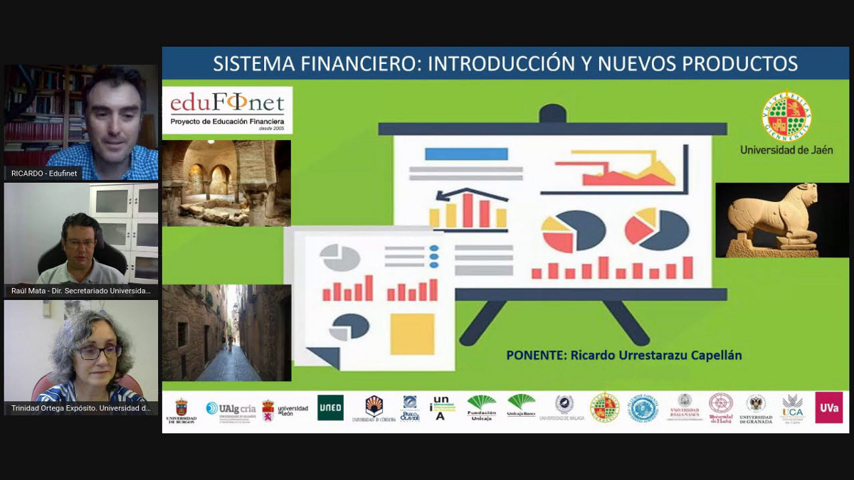 Unicaja's Edufinet project gives an online workshop on new financial products in collaboration with the University of Jaen