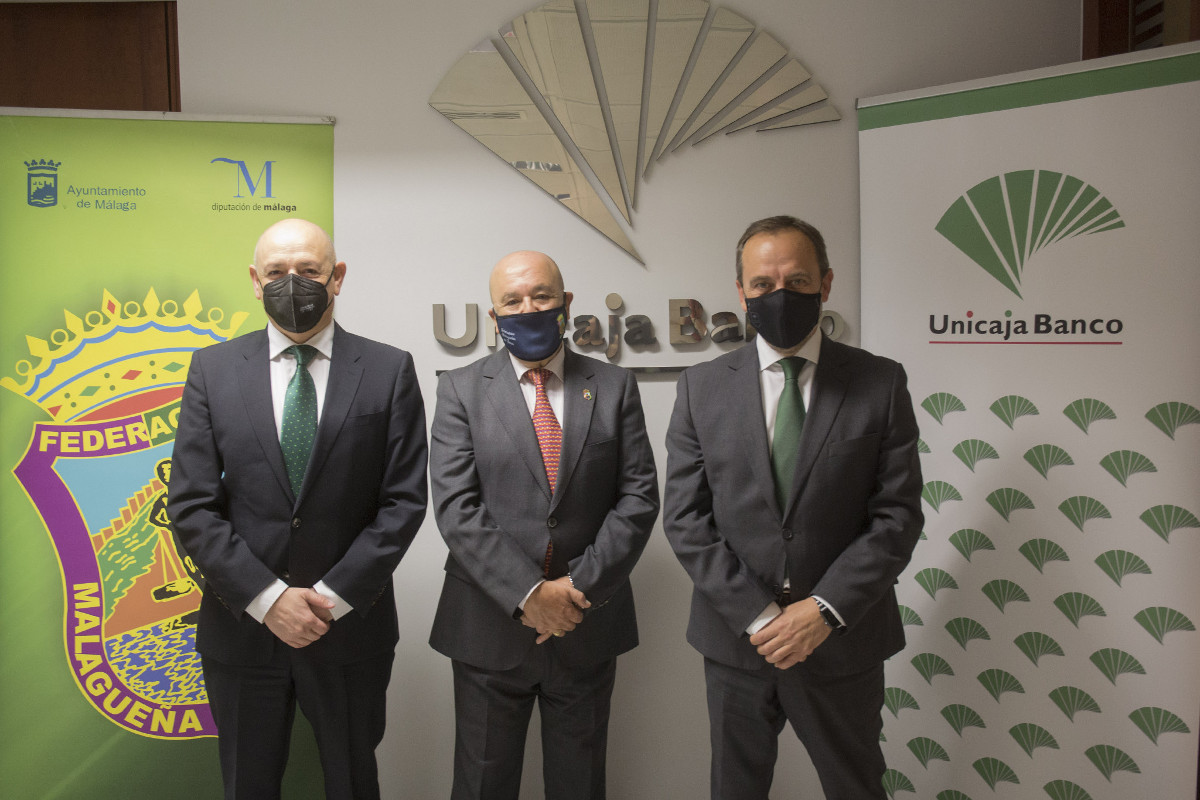 Unicaja Banco supports one more year the work of Federación Malagueña de Peñas with a comprehensive financial service to support its activities in the context of COVID-19