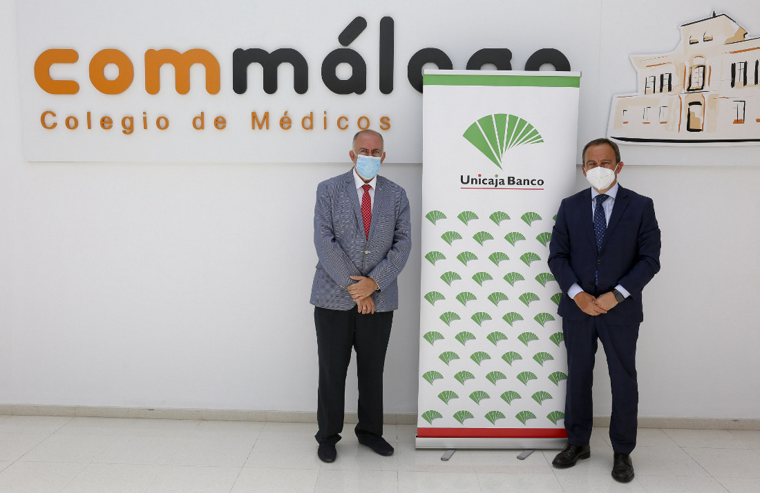 Unicaja Banco renews its agreement with the Official Association of Physicians of Malaga to favour their activities and provide support to face the COVID-19